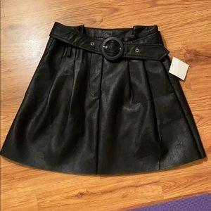 Zara a-like faux leather  skirt